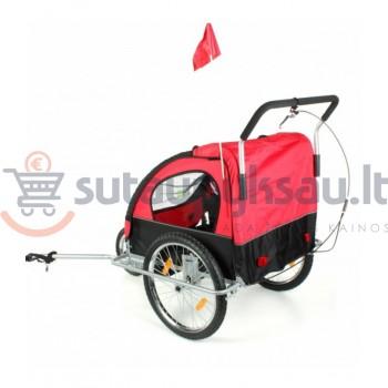 Vežimėlis - priekaba vaikams su stogeliu